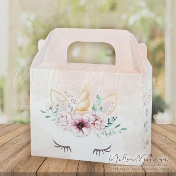 """Κουτί Δώρου τ. Lunch Box """"Μονόκερος"""", 15 τμχ."""
