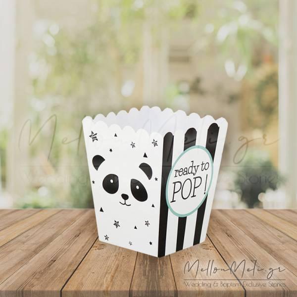 """Κουτί Δώρου τ. Popcorn """"Panda"""", 25 τμχ."""