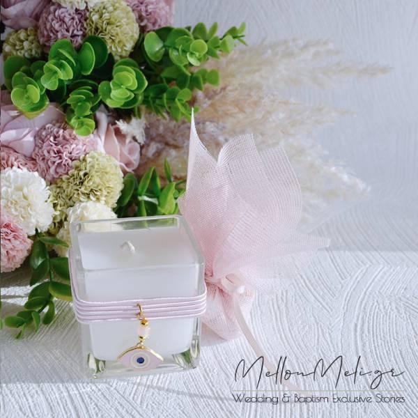 Μπομπονιέρα Luxury κερί με Ματάκι
