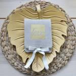 Μπομπονιέρα Γάμου Πορτοφόλι με Χρυσοτυπία