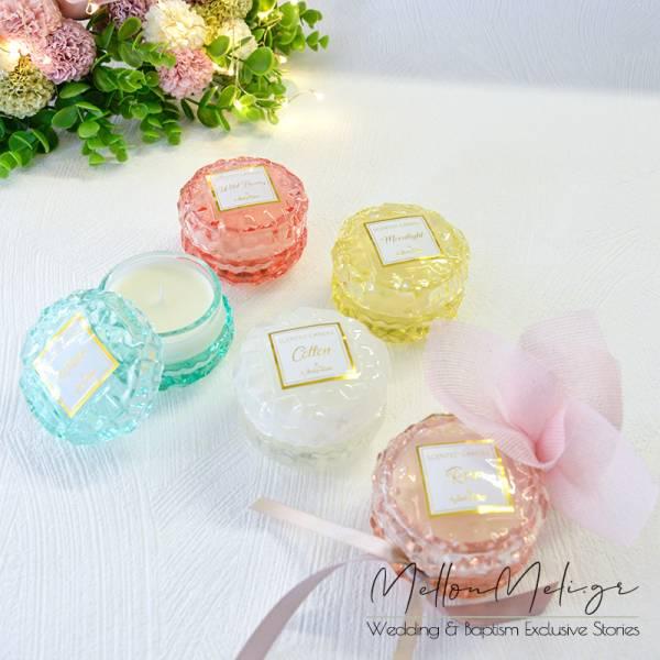 *NEW 2021* Μπομπονιέρα Αρωματικό Κερί σε γυάλινη ανάγλυφη mini φοντανιέρα Soap Tales