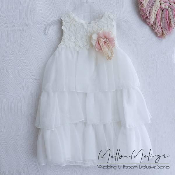 Βαπτιστικό Φόρεμα ή Πακέτο Βάπτισης με Βαλίτσα Cotton Candy by Neonato, κωδ. e009