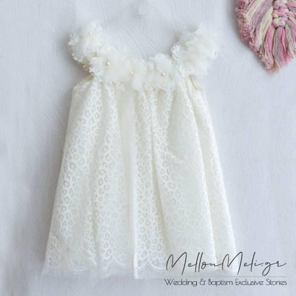 """Βαπτιστικό Φόρεμα ή Πακέτο Βάπτισης με Βαλίτσα """"Dalia"""""""