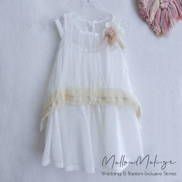 Βαπτιστικό Φόρεμα ή Πακέτο Βάπτισης με Βαλίτσα Cotton Candy by Neonato - κωδ. e011