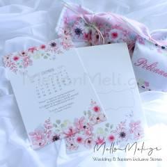 """Floral Watercolours"" Θεματικό Προσκλητήριο Βάπτισης"