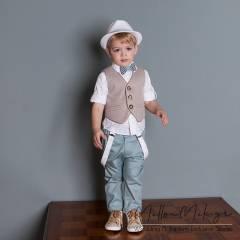 Dolce Bambini - Βαπτιστικό σετ ρούχων για αγόρι, κωδ. 3015