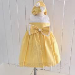 """Βαπτιστικό Φόρεμα """"Kylie"""" yellow"""