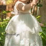 "Puppet - Βαπτιστικό Φόρεμα ""Ronan"", κωδ. ppk046"