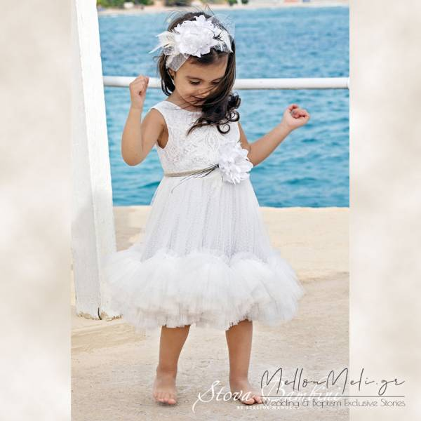 Stova Bambini - Βαπτιστικό Φόρεμα G11