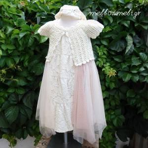 28a1fb8a3bd9 Βαπτιστικό Boho φόρεμα