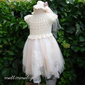 b019a4decada Crochet Χειροποίητο Βαπτιστικό Φόρεμα