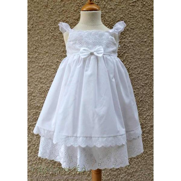 """Βαπτιστικό Φόρεμα Broderie """"Ηρώ"""""""