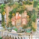 Στολισμός Βάπτισης-Candybar Κύκλος - Ζωάκια του Δάσους