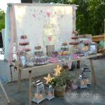 Στολισμός Βάπτισης-Candybar Βάζο γεμάτο καρδιές
