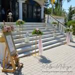 Στολισμός Βάπτισης-Candybar Monogram Gold-Pink