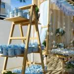 Στολισμός Βάπτισης-Candybar Μονόγραμμα/Αστέρι