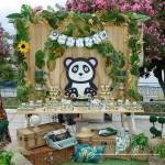 Στολισμός Βάπτισης-Candybar Κύκλος - Panda