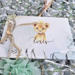 """Θεματικό Βιβλίο Ευχών """"Lion Royalty"""""""