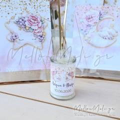 Μπομπονιέρα Αρωματικό Κερί σε γυάλινο βάζο με καπάκι A Shinning Star